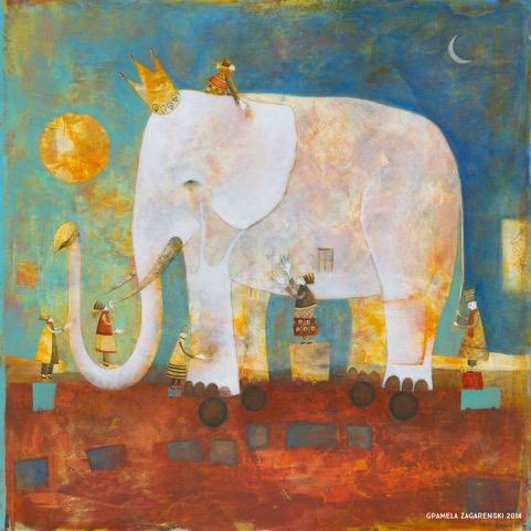 Blind Men and the Elephant by Pamela Zagarenski