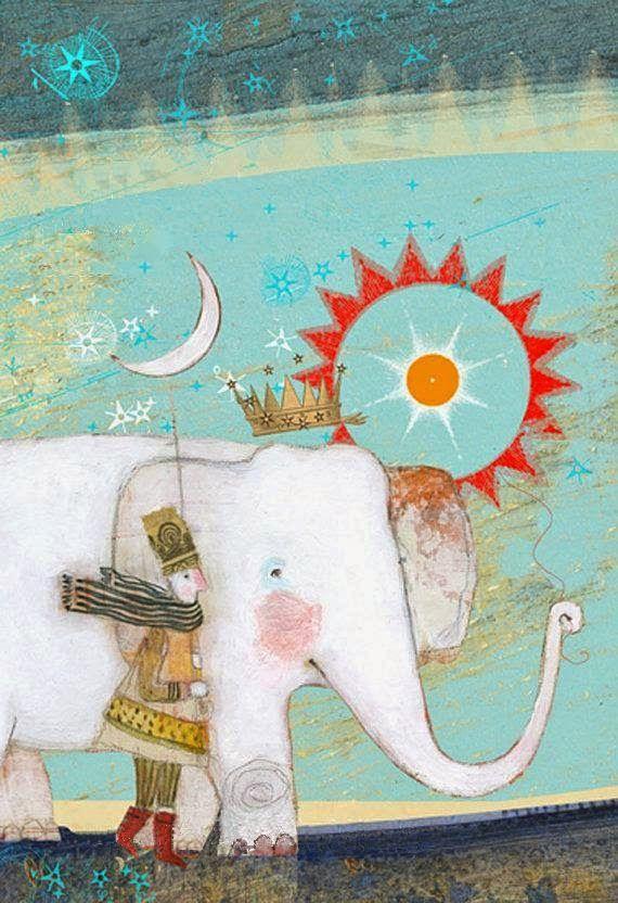 """Elephant 1"" by Pamela Zagarenski"
