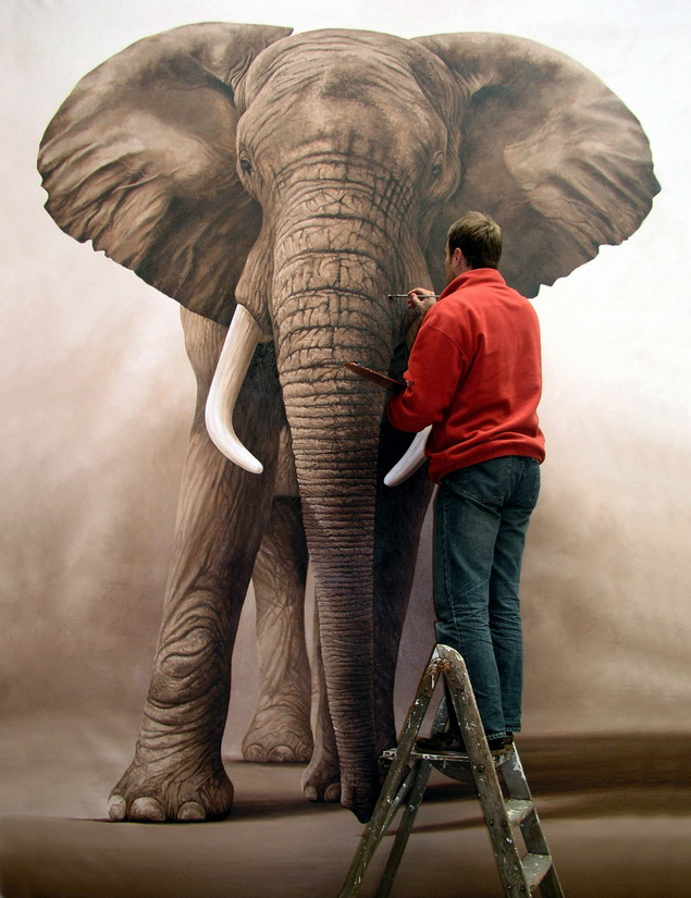 The Wonder of Elephants - Other Cool Birds Realistic Elephant Drawing