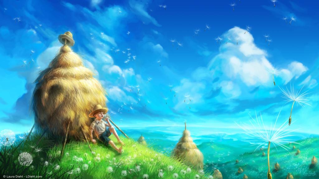 """""""Dandelion Sky"""" by Laura Diehl"""