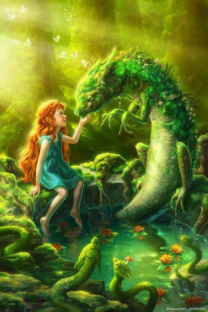 """Moss Dragon"" by Laura Diehl"