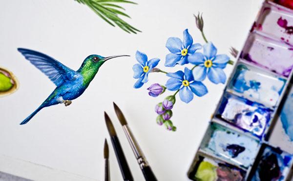 Hummingbird by Eunike Nugroho