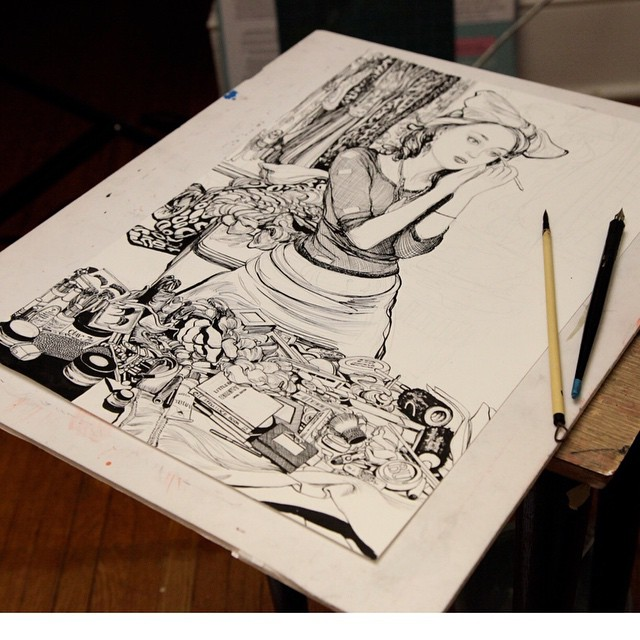 Moleskin Pen and Ink by Dorian Vallejo