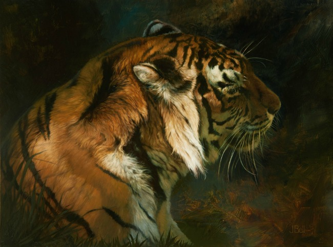 """Tiger Shadows"" by Julie Bell"
