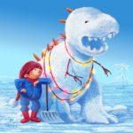Dino-Snowman by Simona Ceccarelli