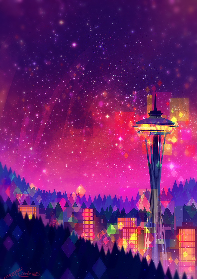 """Seattle"" by Zandra Art"