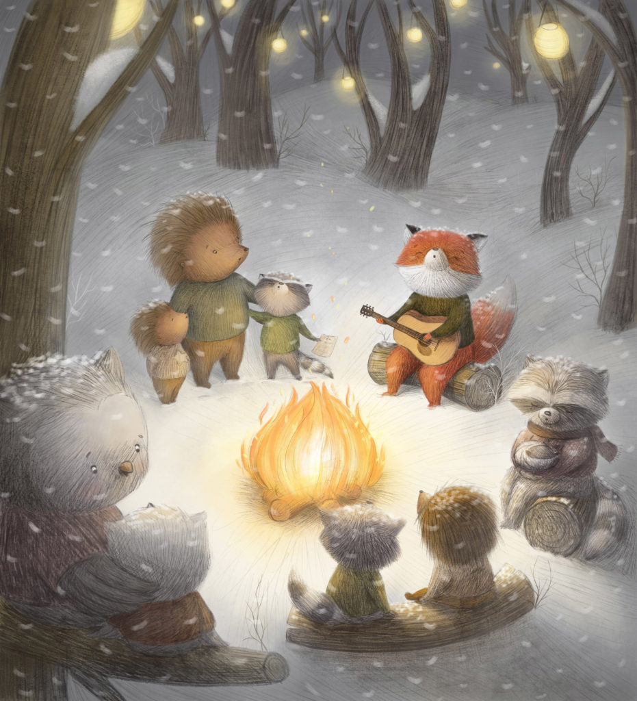 """Winter Campfire"" by Ramona Kaulitzki"